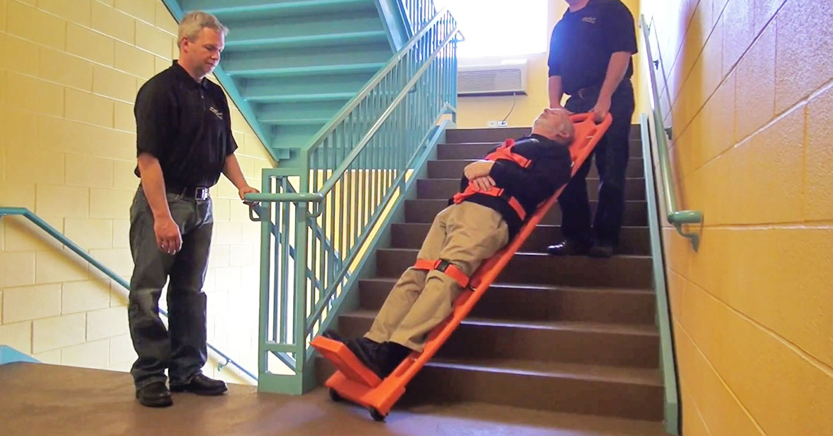 WauK® board - transport device for the removal of the deceased